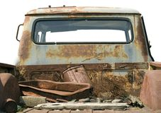 Verrostetes LKW-Bett Stockfoto