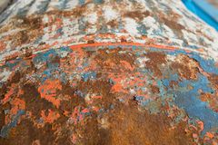 Verrostetes Metall trommeln oben nah Lizenzfreie Stockfotografie