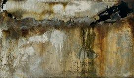 Verrostetes Metallstück - Beschaffenheits-Hintergrund Stockfoto