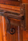 Verrou de porte antique décoratif Photographie stock libre de droits