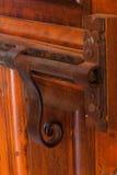 Verrou de porte antique décoratif Photographie stock libre de droits