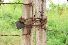 Verrouillé rouillé Photo libre de droits