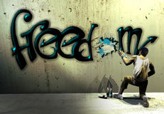 Graffiti de liberté Photo libre de droits