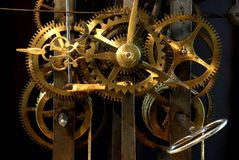 Verrouillage sur une vieille horloge photo stock
