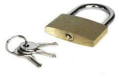 Verrouillez avec des clés Photos stock