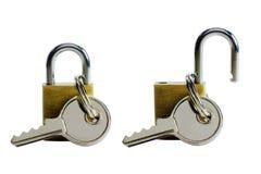 Verrouillez avec la clé Image stock