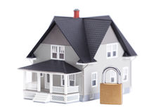 Verrouillez devant le modèle architectural de maison photographie stock libre de droits