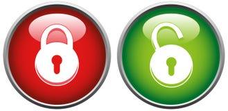 Verrouillez et déverrouillez le bouton Photographie stock libre de droits
