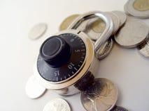Verrouillez votre argent Photographie stock libre de droits