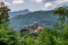 Verrucole forteca, San romano w Garfagnana, Tuscany, Włochy Zdjęcie Stock