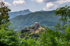 Verrucole fortress, San Romano in Garfagnana, Tuscany, Italy Stock Photo