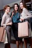 Verrukking na het winkelen Stock Foto