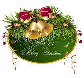 Verry Christmas background with bells Royalty Free Stock Images