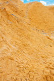 Verry close up view on pile construction sand. Small depth of field Stock Photo