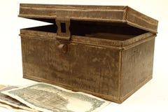 Verry old metal box Stock Photo