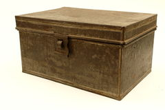Verry old metal box Royalty Free Stock Photo