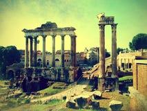 Versão artística de Roma Fotografia de Stock