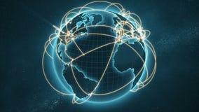 Versão azul e alaranjada da rede global - ilustração royalty free