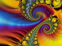 Versão da cor do fractal azul Imagens de Stock Royalty Free