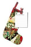 Versão de Reino Unido. Letra a Santa Claus. imagens de stock