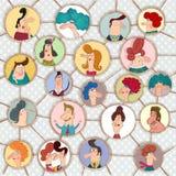 Versão dos desenhos animados da rede social Imagem de Stock Royalty Free