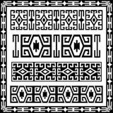 Versão tradicional dos elementos do projeto geométrico Fotos de Stock Royalty Free