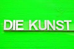 Versão verde do DADO KUNST com cores diferentes fotos de stock