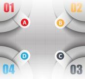 Versões diferentes dos dados, infographics 3d Fotos de Stock