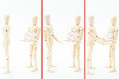 Versöhnte Paare, die Liebe und ein defektes Herz teilen Stockfoto