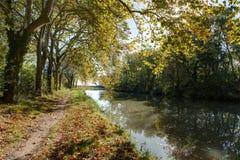 Vers Каркассон - од & x28 Le Канала du Midi; France& x29; Стоковое Изображение