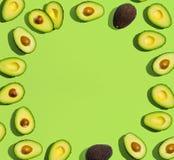 Vers avocadopatroon Stock Afbeeldingen