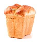 Vers bakselbrood, brood, broodtin stock fotografie