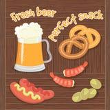Vers Bier en Perfecte SnaÑ  k Royalty-vrije Stock Fotografie