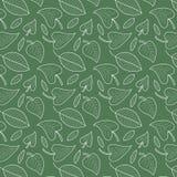 Vers bladeren naadloos patroon in vector Kleurrijke gebladerte eindeloze achtergrond royalty-vrije illustratie
