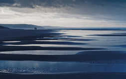 Vers Borth de Ynyslas - couleur Photos stock