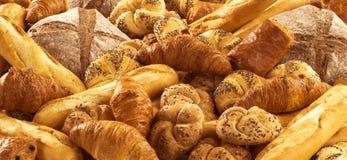 Vers brood en gebakje Royalty-vrije Stock Foto's