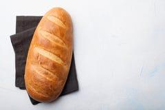 Vers brood op steenlijst Hoogste mening met ruimte voor uw tekst Royalty-vrije Stock Foto's