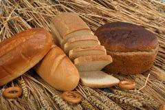 Vers brood op wheaten achtergrond Royalty-vrije Stock Fotografie
