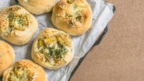 Vers brood van oven & x28; ansjovisaardappel bread& x29; stock fotografie