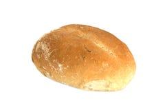 Vers broodje gebakken op witte achtergrond stock foto's