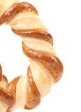 Vers buitensporige gebakken pretzel. Stock Fotografie