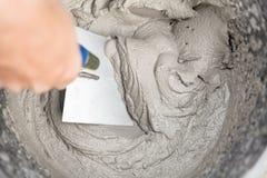 Vers cement of mortier royalty-vrije stock afbeelding