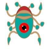 vers comme un étranger, crabes, calmar, éléments de conception de vecteur illustration libre de droits