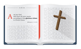 Vers de bible au sujet de la richesse de Dieu illustration de vecteur