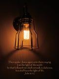 Vers de Jesus Light Of World Bible Photos stock