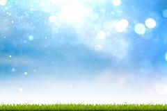 Vers de lente groen gras met bokeh stock foto