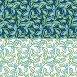 Vers decoratief abstract de bladeren naadloos patroon van de de lentekleur Stock Afbeeldingen