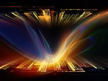 Vers des ondes lumineuses de Digital Images stock