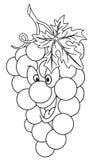 Vers druivenbeeldverhaal Royalty-vrije Stock Afbeelding