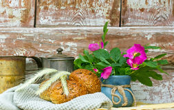 vers eigengemaakt graanbrood Stock Afbeelding